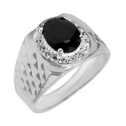 Elfi 925 Genuine Silver Engagement Ring R45 - The Black Saber