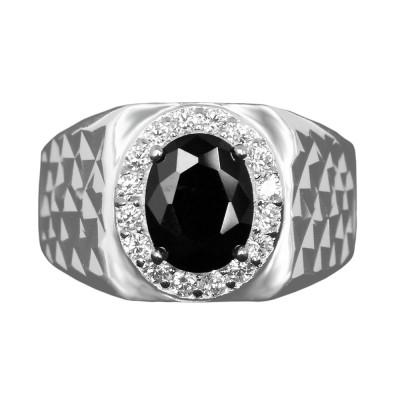 Elfi 925 Genuine Silver Engagement Ring R45 - The Black Saber