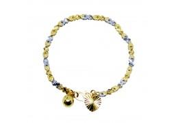 Elfi Gold Plated Children Charm Bracelet for Baby GBB-1