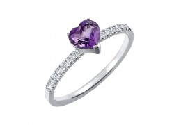 Elfi 925 Genuine Silver Engagement Ring P3 - The Purple Heart