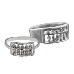 Elfi 925 Genuine Silver Couple Ring C73