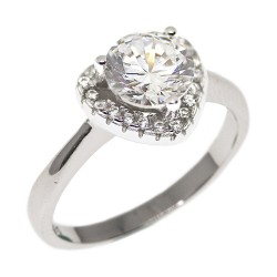 Elfi 925 Genuine Silver Engagement Wedding Ladies Ring P74