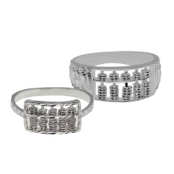 Elfi 925 Genuine Silver Abacus Couple Ring C74